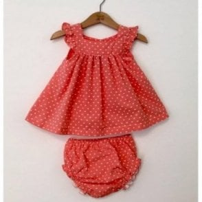 Alicia Baby outfit in coral