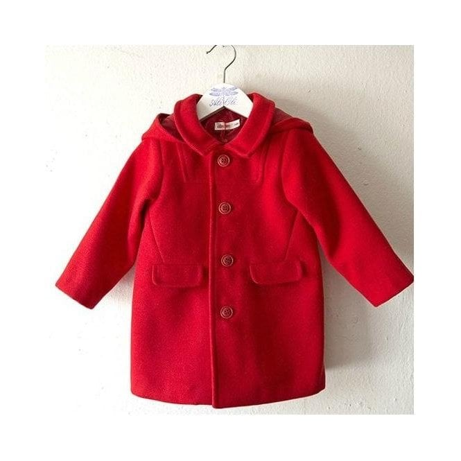 AliOli Kids Baby Hooded Coat - Red