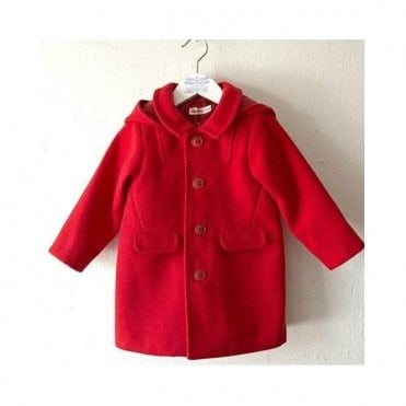 Baby Hooded Coat - Red