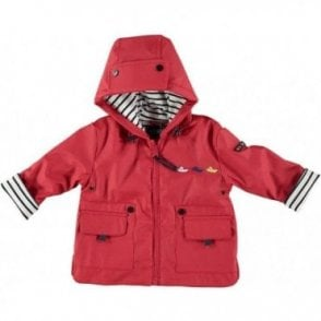 Baby raincoat - red