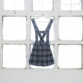 Black watch tartan romper