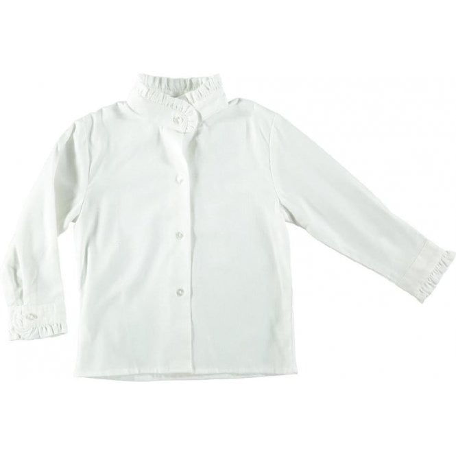 AliOli Kids Blouse with high frill collar