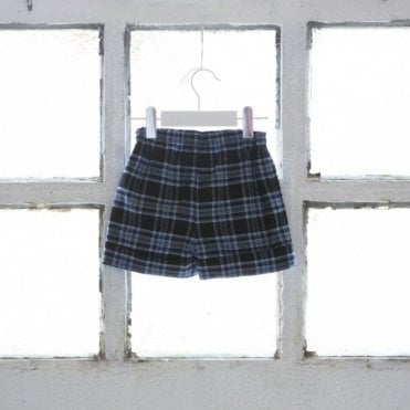 Boys blackwatch tartan shorts