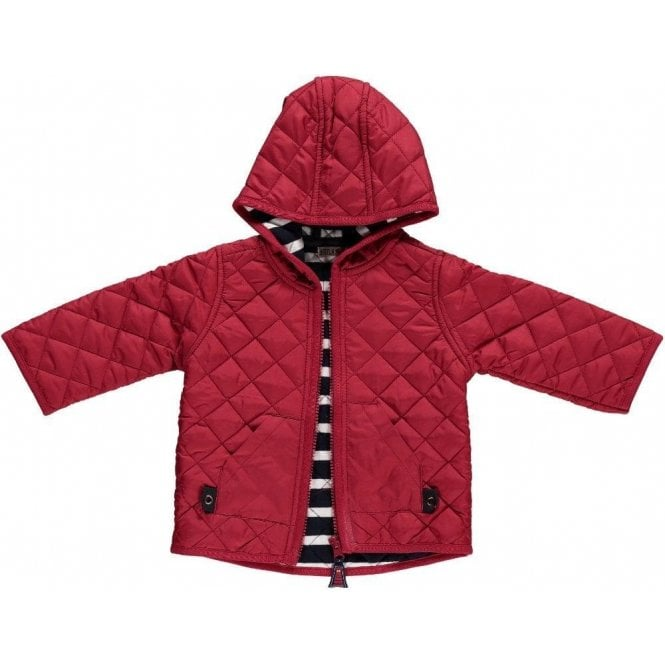 AliOli Kids Boys Quilted Jacket - Red