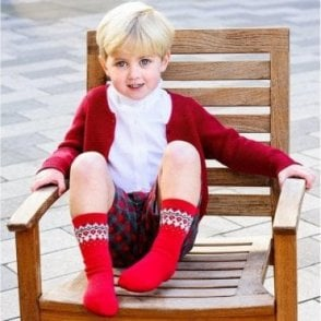 Boys ruby tartan shorts