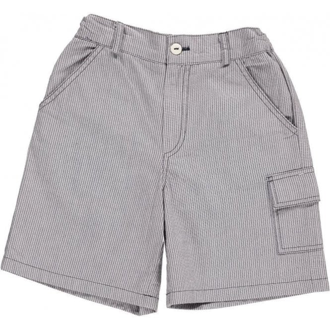 AliOli Kids Boys white and blue striped shorts