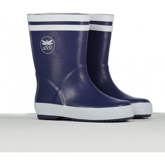 AliOli Kids Childrens Navy Wellington Boots
