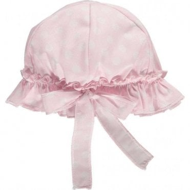 Frilly baby sun hat