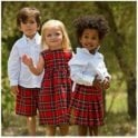 AliOli Kids Girls Berry Tartan Dress