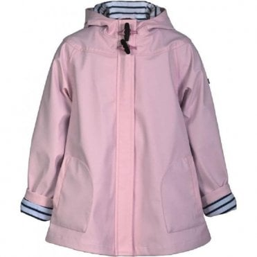 Girls pink raincoat with hood