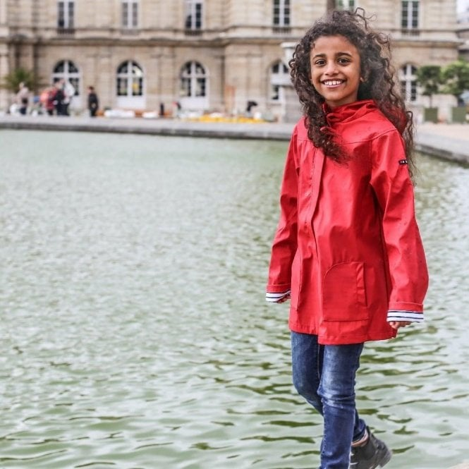 AliOli Kids Girls red raincoat