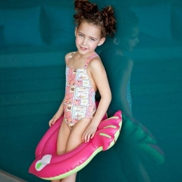 Girls Swimsuit - Pink Sea Creatures