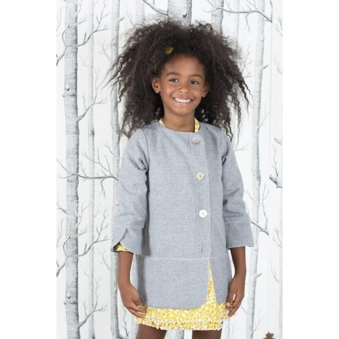 AliOli Kids Mid Length Grey Coat