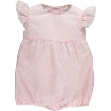 Pale Pink Striped Baby Romper