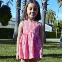 AliOli Kids Red Gingham Pinafore Dress