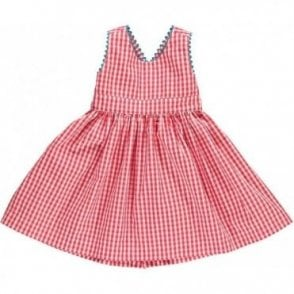 Red Gingham Pinafore Dress