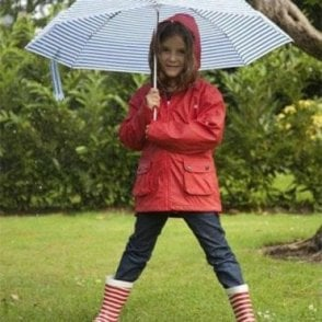 Red raincoat for boys and girls