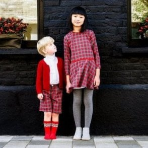 AliOli Kids Ruby Tartan girls dress