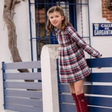 Tartan girls dress