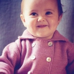 Vintage Style Knitted Baby Coat - Lilac