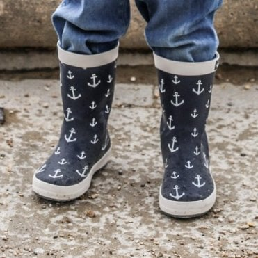 Anchor wellington boots
