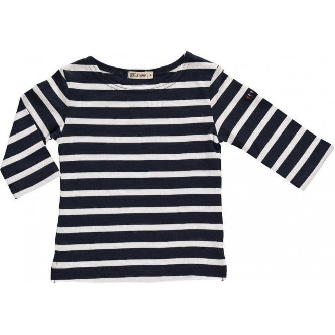 Batela Breton 3/4 Sleeved T Shirt - Navy