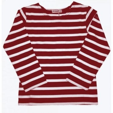 Breton 3/4 Sleeved T Shirt - Red