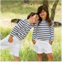 Batela Breton 3/4 Sleeved T Shirt - White