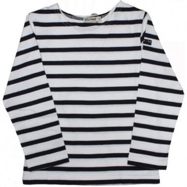 Breton 3/4 Sleeved T Shirt - White