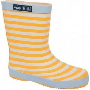 Stripy wellington boots