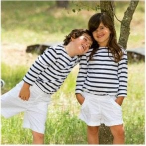 Breton Long Sleeved T Shirt - White