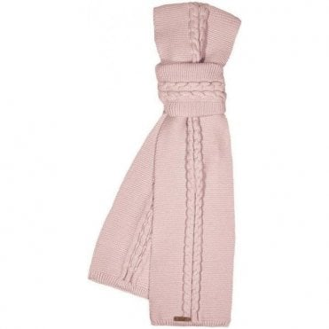 Antique rose knitted cotton scarf