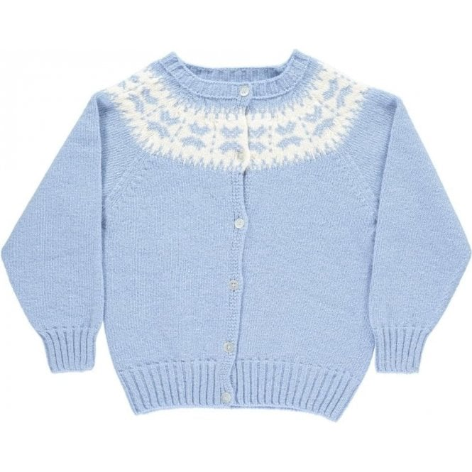 Condor Baby blue wool cardigan