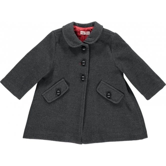 Condor Baby girls charcoal classic coat