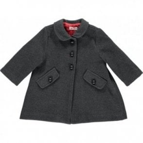 Baby girls charcoal classic coat