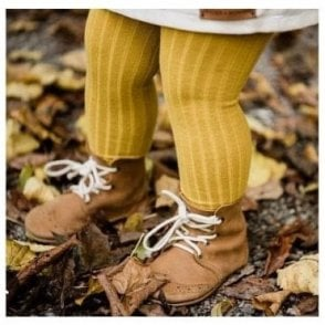 Childrens Tights Curry Mustard
