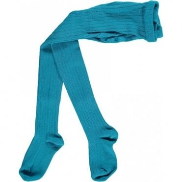 Childrens Tights Turquoise
