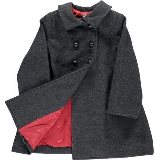 Condor Girls Classic Coat - charcoal