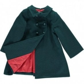 Girls Classic Coat - green