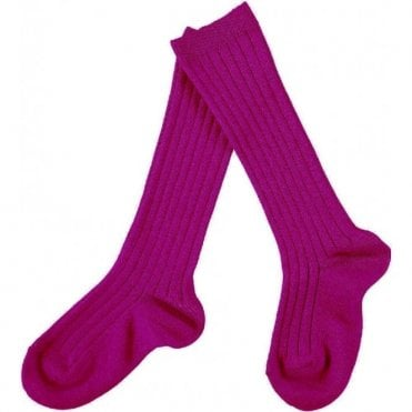 knee high ribbed socks Bugambilia