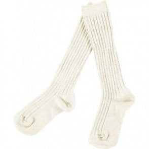 knee high ribbed socks Cava