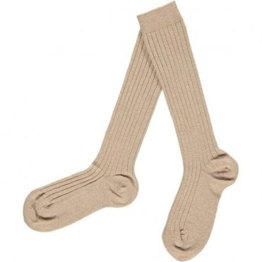 Knee-High ribbed socks Cuerda