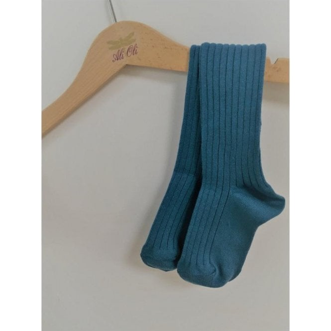 Condor Knee high ribbed socks Ocean