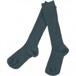 Knee-High ribbed socks Oil