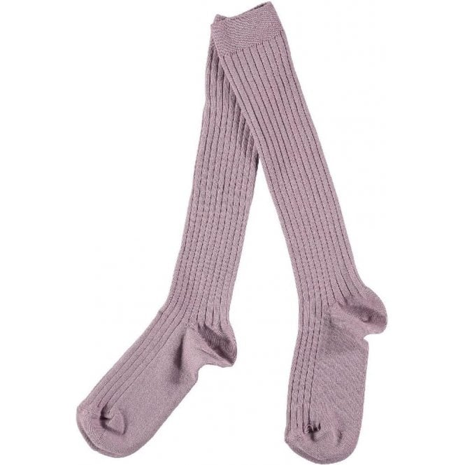 Condor knee high ribbed socks Old Rose