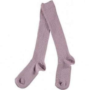 knee high ribbed socks Old Rose