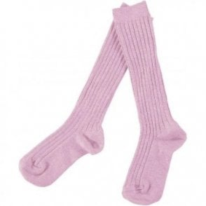 knee high ribbed socks petal