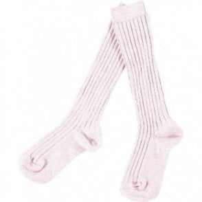 knee high ribbed socks_Pink