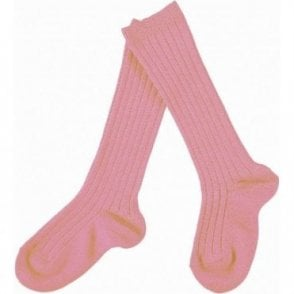 knee high ribbed socks Sesame