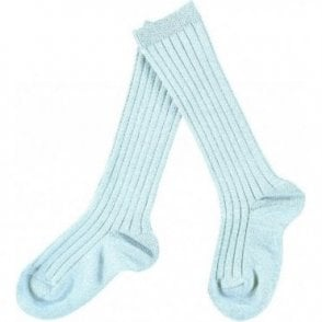 Knee-High ribbed socks_Sky Blue